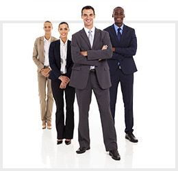 Group of business people standing